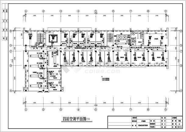 某四层实验室空调多联机空调设计图纸图片