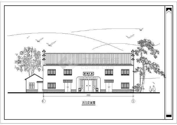 某地区祠堂图纸农村建筑设计施工图手工图样二层毛线编织鞋图片