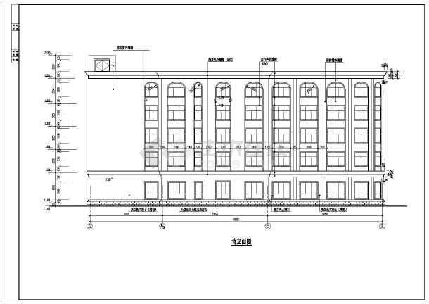框架结构酒店建筑装修设计施工图,包括:装修设计说明,首层平满布置图
