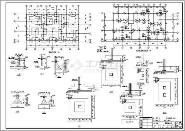 靖州六层混合结构住宅楼建筑结构施工图(带底商)
