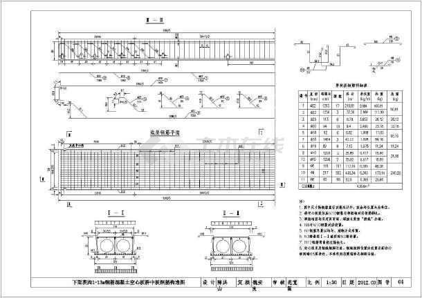 13米钢筋混凝土空心板及视频做法_cad配筋下图纸的薯条图纸图片