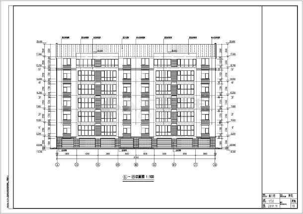 临沂某地五层砖混多层图纸住宅建筑设计施工图的探结构钎图片
