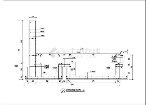 某景观项目落水景墙建筑设计方案图纸