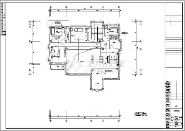 某三层别墅含储藏室电气设计施工图图片