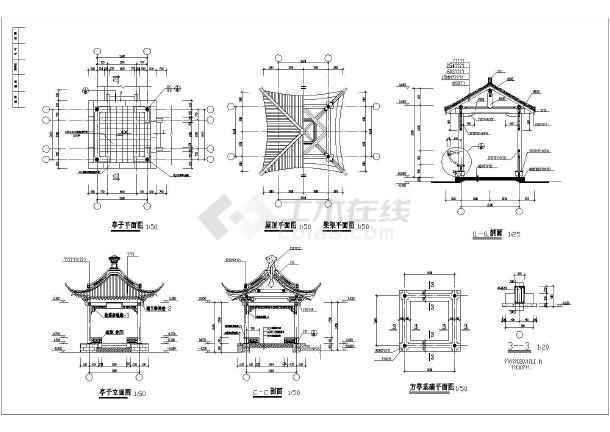 木结构建筑施工图