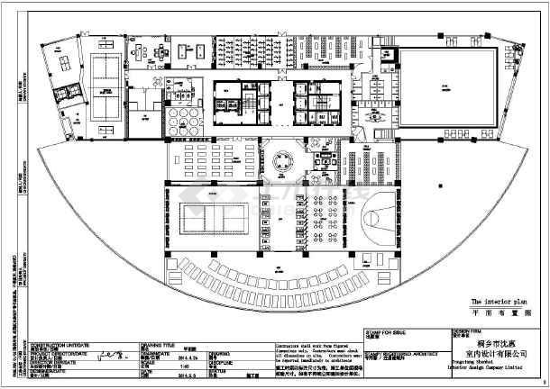 某地多功能健身房装修设计方案图,图纸内容包括:封面,1-2层平面布置图