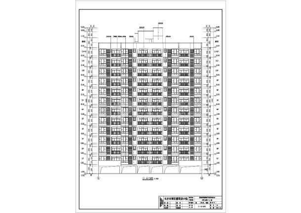 某小区11层住宅楼建筑设计施工图_cad图纸下载-土木