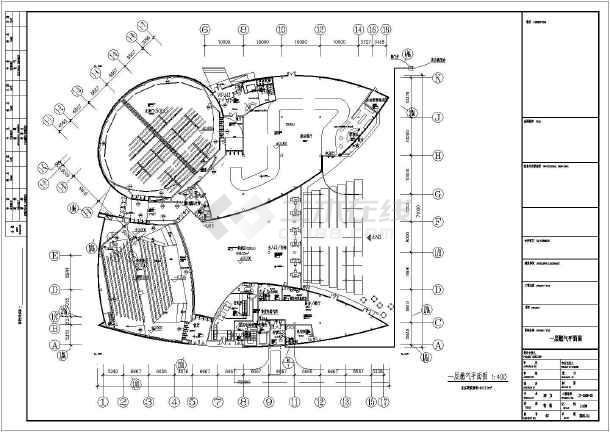 【上海】两层世博展馆空调通风初步设计图纸图片