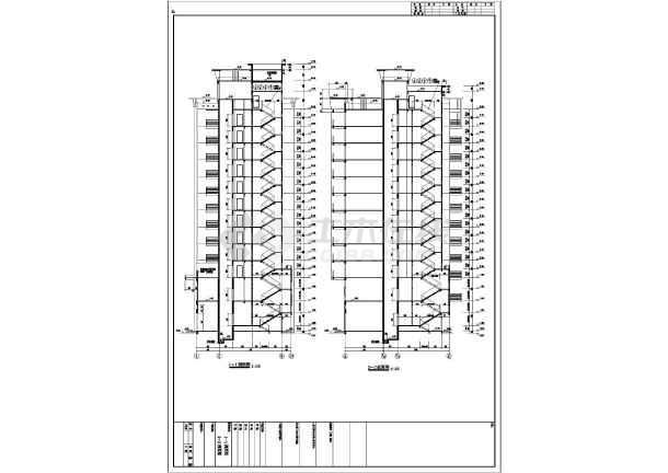 某地12层混凝土框架结构商住楼建筑施工图纸