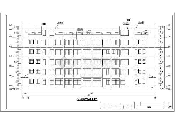某高校五层结构框架食堂建筑及结构设计施工图cad木地板图片