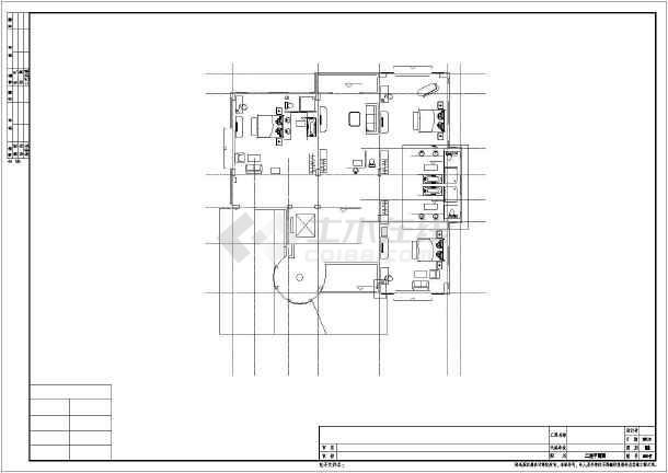 三层框架结构北美风情星际酒店结构施工图(含建施)