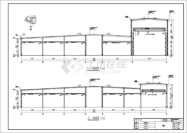 某地150t/50t吊车重钢厂房设计施工图