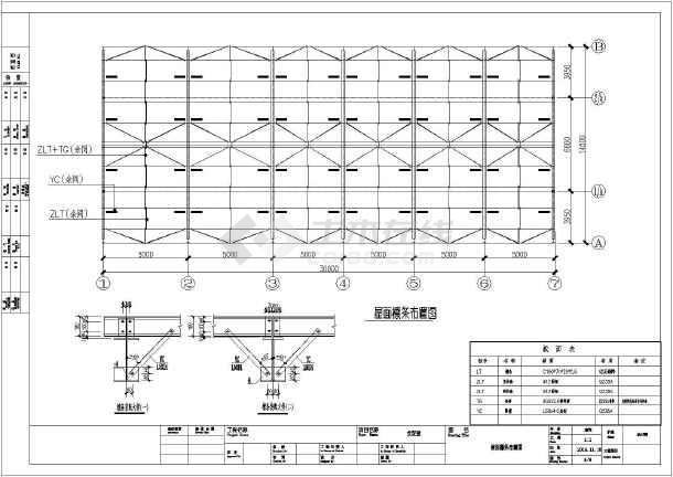 钢结构古建筑会议室结构设计施工图
