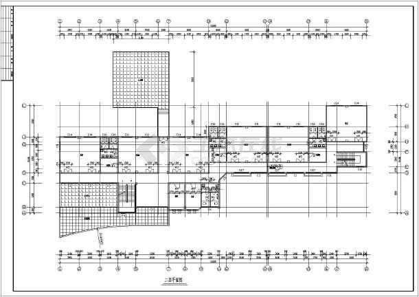 某幼儿园屋顶平面图,教室剖面图(cad图)
