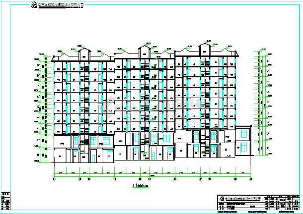 错层坡地型城堡县城小区公寓楼建筑施工设计图