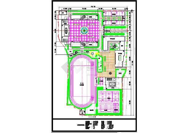某中学校园规划总平面图(含技术指标)图片1