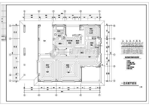 2016年最新四套农村自建房屋地板采暖设计平面图