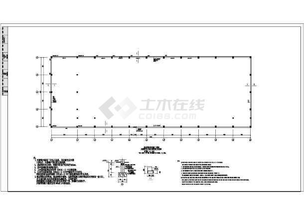 某地二层框架结构厂房车间结构施工图