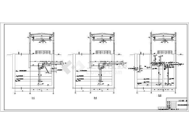 某电厂生活污水及雨水提升泵房管道安装设计图图片