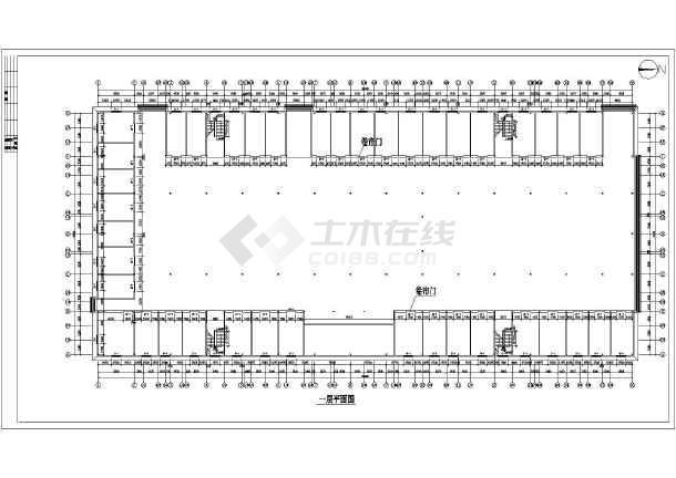 【济南】二层钢结构商场建筑结构水电施工图