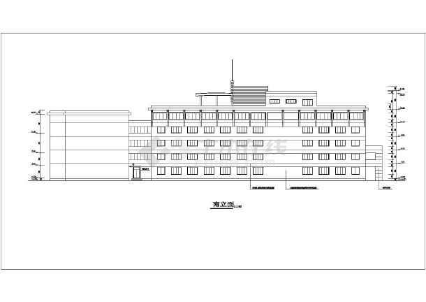 •建筑设计说明•宾馆建筑设计•屋顶平面图•抗震