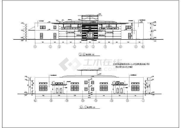 某地一汽大众汽车展厅建筑方案设计图