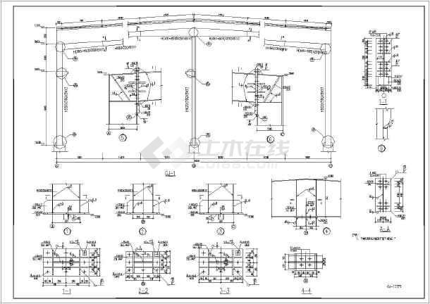 图纸包含结构设计说明,基础平面布置图,预埋布置图,屋面结构布置图,柱