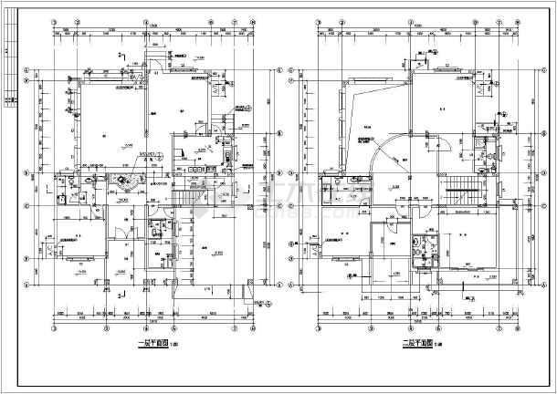 层框架结构简欧小别墅建筑设计施工图