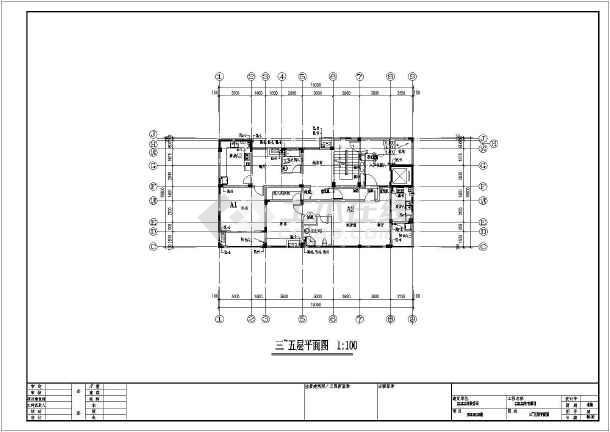 某支架图纸给排水及天燃气设计施工住宅_cad口多层金图纸图片
