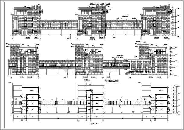 该图纸为某地4层框架结构中学教学楼建筑设计扩初图,建筑面积为8645.图片
