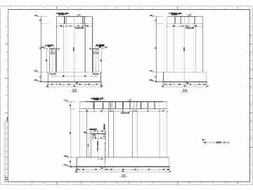 结构图 离心式/离心式构架压缩机设备基础结构图(适用于转速n大于3000r/min的...