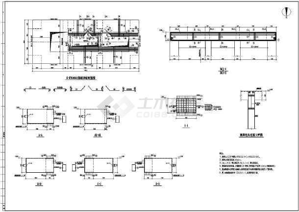 离心式构架压缩机设备基础结构图(适用于转速n大于3000r/min的离心式
