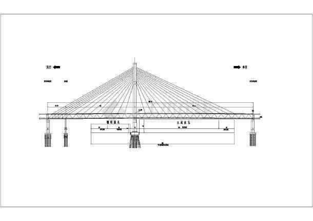 桥梁设计cad图纸慢个别运行图片