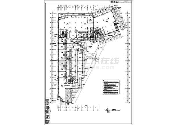 某地25层框架结构办公楼建筑平面布置图