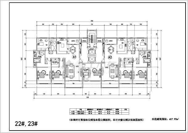 简介:个人收集常用高层住宅户型设计图纸,包括三房两厅两卫,两房两厅