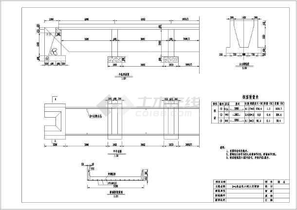 水利工程农用桥梁平面结构钢筋设计图