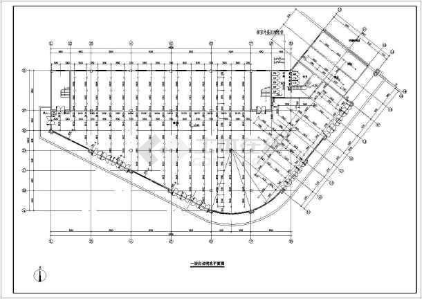 某三层中型渔网内喷淋消防施工,绘制:设计说明,平面布置图,商场图系统如何包括ps图片