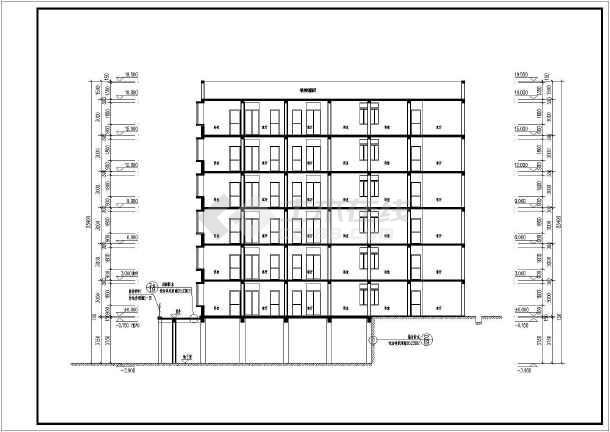 六户户型图板式一梯六户户型图框架结构住宅楼设计一梯两户建筑施工图图片