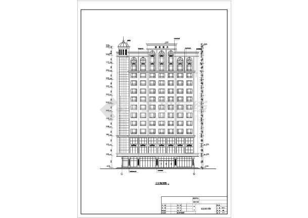 汕尾市某地十三层框架结构酒店建筑设计方案图纸