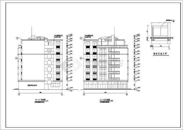住宅楼 共7层,层高为2.8米 总高度为23.5米,三室两厅一卫两阳台.