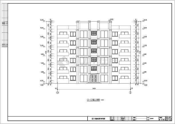 某地区六层砖混结构员工宿舍楼建筑设计方案图纸