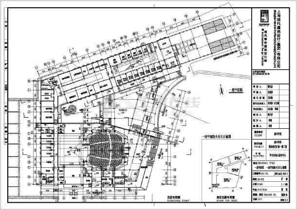 某地三层大学生活动中心建筑设计方案图片