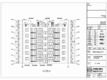 江西某小区6层砖混结构建筑设计施工图