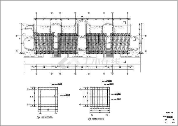 某地一层框架结构温泉汤屋建筑设计施工图纸