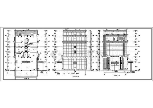 某地六层框架结构酒店综合体建筑施工图设计图纸