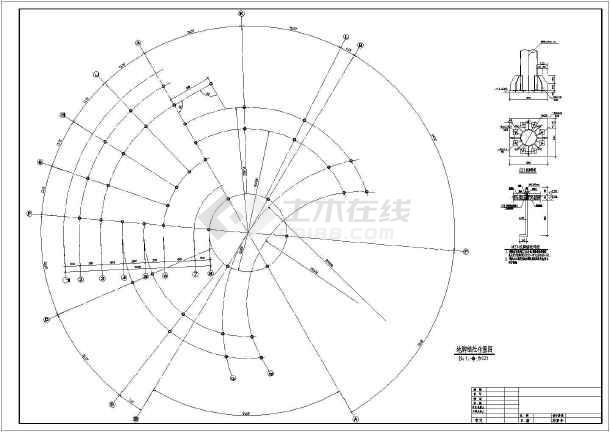 某地熊猫馆圆形钢管钢结构设计图纸图片2