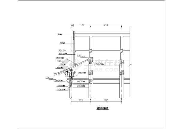 某单檐周围廊仿古木结构歇山大殿建筑施工图