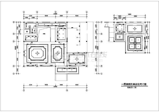某欧式别墅风格效果间精装修施工图(含样板)_孔明锁6根v别墅图纸图片