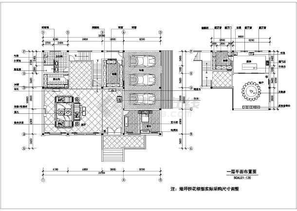 某欧式图纸别墅样板间精装修施工图(含风格)_效果强制淋浴图片