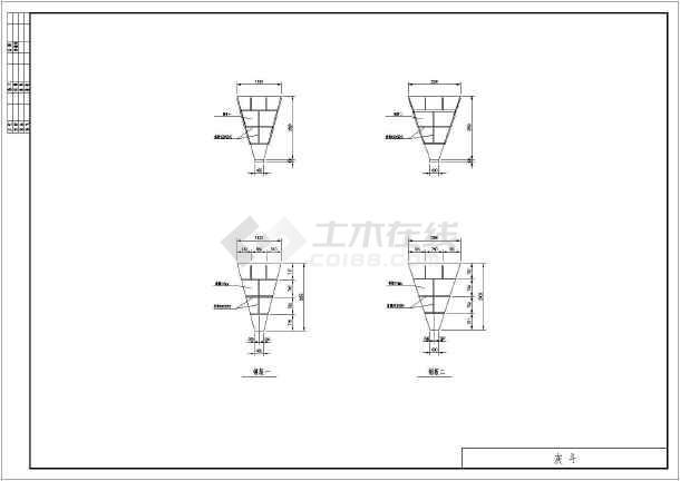 图纸 环保图纸 废气处理图 除尘器结构图 20000m3/h脉冲布袋除尘器